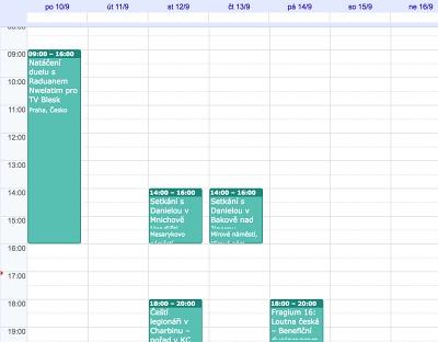 Kalendář –Daniela Weissová, náhled.