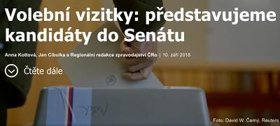 Volební vizitky ČRo, náhled.